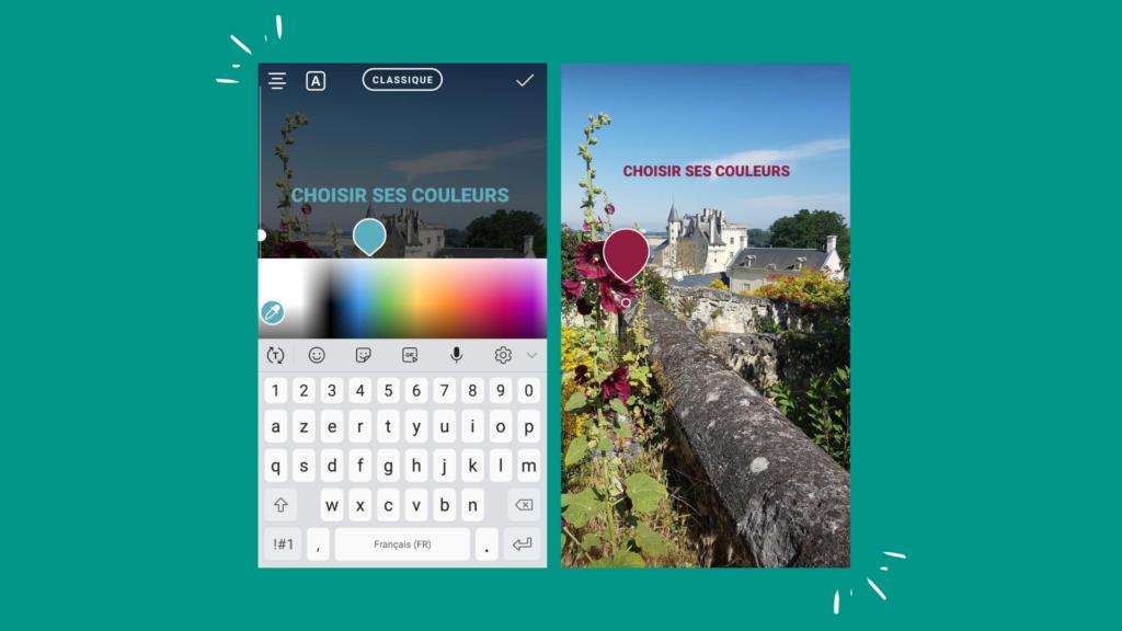 Stories Instagram - Choisir ses couleurs