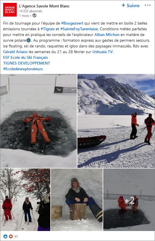 LinkedIn - Savoie Mont Blanc
